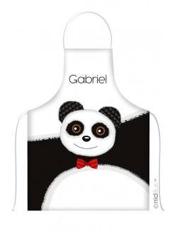 """Tablier personnalisé """"Tête de Panda"""""""